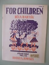 BELA BARTOK  for children piano solo volume 2  Boosey e Hawkes