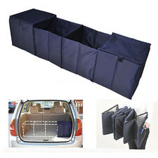 Portable Collapsible Folding Car SUV Trunk Organizer Storage with 2 Cooler Bags