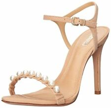Schutz Danielle High Heels Dress Sandal, Nubuck Pale Peach SIZE 6.5 B