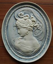 Victorian Plaque/bas relief (right) in cameo style.Plus a mystery gift