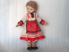VINTAGE RUSSIAN DOLL IN NATIONAL/TRADITIONAL COSTUME, USSR, 1960s
