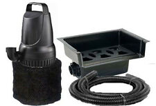 """1200 GPH Pond Pump and 14"""" Waterfall Spillway Combo Kit + Tubing and Filter"""