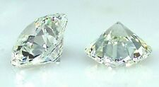 TWO SUPERIOR IDEAL CUT HEARTS+ARROWS 3 CARAT LARGE 9MM SIMULATED MOISSANITE GEMS