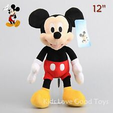"Original HQ Mickey Mouse Plush Doll Soft Stuffed Toy Licensed New 12"" Xmas Gift"