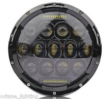 "7"" Motorcycle Black Projector Daymaker HID LED Light Bulb DRL Headlight : Harley"