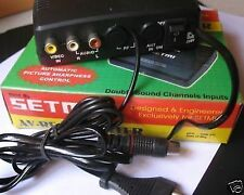 AV to RF Converter Connect Set Top Box DVD Tata Sky Airtel Dish to Old TV SYS