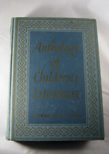 Anthology Of Children's Literature book, 3rd Edition Johnson Sickels Sayers 1959