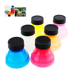 Reusable Creative 6Pcs Snap On Tops Can Bottle Caps For Fizz Soda Drink Lid