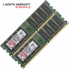 Mémoire RAM Kingston 2 Go (2x1 Go) DDR-400 PC3200 Ordinateur Bureau 184 Broches