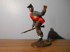 54mm ACW REBEL INFANTRYMAN--running--pewter kit by WOLF --painted by seller