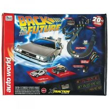 Auto World Back to the Future W/ Time Machine & Biff 20' HO Slot Car Set SRS297