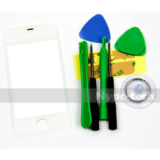 New Replacement Front Outer Screen Glass Lens For White For Apple Iphone 4 4G 4S