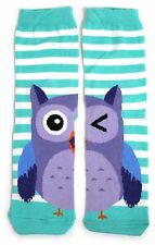 LADIES WHAT A HOOT! HALF A WINKING OWL ON EACH FOOT SOCKS