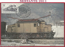 ITALIA MAXIMUM MAXI CARD FERROVIE CUNIFER E 554 FILATELICO NUMISMATICA 1989 B931