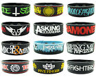 New Fashion Silicone Rock Bands Unisex Wristbands Rubber Bracelet