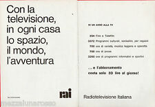 Pubblicità Advertising 1971 RAI Radio Televisione Italiana