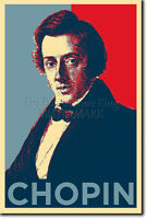 FREDERIC CHOPIN - HOPE POSTER - PHOTO PRINT ORIGINAL ART GIFT Frédéric