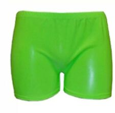 LADIES GIRLS NEON LYCRA STRETCHY SEXY HOT PANTS SHORTS DANCE GYM PARTY SIZE 8-14