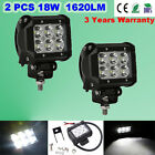 2PCS 4INCH 18W CREE LED WORK LIGHT BAR SPOT OFFROAD FLOOD LAMP ATV UTE SUV 4WD
