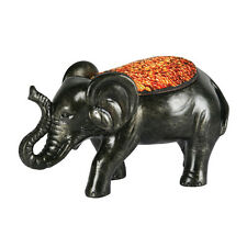 25 watt antique 'Elephant' table lamp with mosaic glass