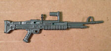 Sub-Zero v1~ Gray Rifle Machine Gun~  Gi Joe Parts~ Vintage 1990  Hasbro~