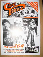 CARD TIMES MAGAZINE FORMERLY CIGARETTE CARD MONTHLY No 126 OCTOBER 2000