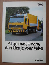 VOLVO  Municipal vehicles/Kommunalfahrzeuge  catalogue/brochure/Prospekt ca.1990