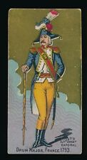 1890's N224 Kinney Bros. MILITARY SERIES -Ser D -Drum Major, France 1793