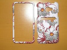 SPRINT HTC EVO LTE FLOWERS ON WHITE SNAP ON COVER/CASE NEW