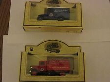 2 Lledo England Chevron Trucks Red Crown Zerolene oil NIB Gas toys