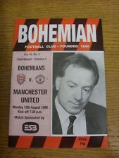 13/08/1990 Bohemian v Manchester United [Centenary] (team changes). Condition: W
