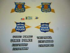 Indiana State Police  Patrol  Car Decals  New Scheme  24 scale  FREE US SHIPPING