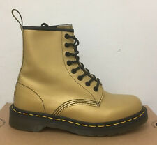 DR. MARTENS 1460 GOLD MUTED METALLIC  LEATHER  BOOTS SIZE UK 9