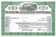 USA UNITED NEW JERSEY RAILROAD & CANAL  stock certificate