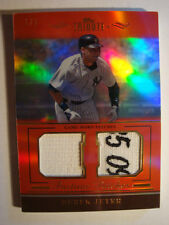 2011 Derek Jeter Topps Tribute Red Dual Logo Patch Relic #PP-DJ #1/1