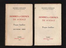 █ Maurice d'Ocagne Hommes et choses de science 1ère & 2ème série 1930-1932 █