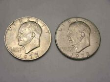 1972-D Eisenhower $1.00 Dollar circulated silver clad coins 2 coins per buyer