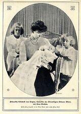 Prinzessin Elisabeth von Belgien mit ihren Kindern * Bilddokument 1907