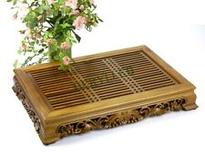 Chinese Tang Grape Green Sandalwood Gongfu Tea Tray Serving Table 47*33.5*8cm