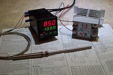 DIGITAL PID TEMP CONTROLLER  F & C , 25AMP SSR /WITH-HEATSINK AND PT-100 PROBE