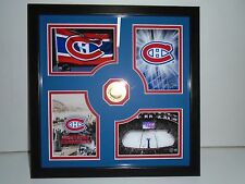"NHL LES CANADIENS FRAME WITH GOLD MEDAILLON hard wood  *NEW"" FREE SHIPPING*"