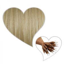 25 Nanoring-Extensions 35 cm champagnerblond#22 Echthaar Microring Haare blond