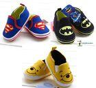 New Superman Batman Winnie Baby Boys Girls Prewalker Shoes Sneaker Size 0-18m