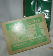 Vintage Cooky Cutter 2 in 1 Snow Man and Gingerbread Boy Cookie Cutter Aluminum