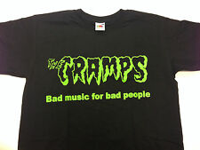 THE CRAMPS T SHIRT BAD MUSIC FOR BAD PEOPLE FREE UK POSTAGE