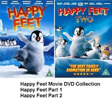 HAPPY FEET PART 1 / HAPPY FEET PART 2 TWO DVD MOVIE FILM COLLECTION New Selaed