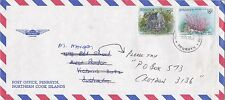 BD205) Penrhyn OHMS Air mail cover bearing: Sci. Names. Price: $6