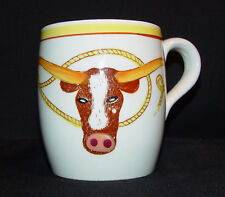 Vintage Fred Roberts Western Longhorn & Spurs Coffee Mug - Excellent Condition