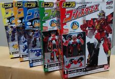 Bandai GO-BUSTERS OH Megazord Candy Toy Ace Cheetah Gorilla Rabbit Set of 5