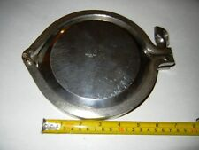Stainless Steel Vessel Cap 0.5 Dia. with Shamrock Clamp